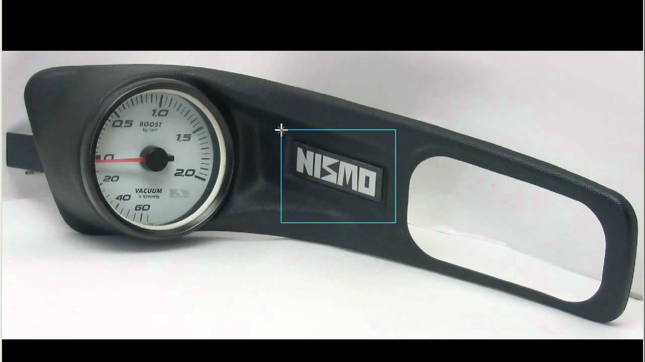 NISMO Boost gauge Door pannel holder + K´s 80mm Gauge S14 S14A 200sx 240sx - YouTube & NISMO Boost gauge Door pannel holder + K´s 80mm Gauge S14 S14A 200sx ...