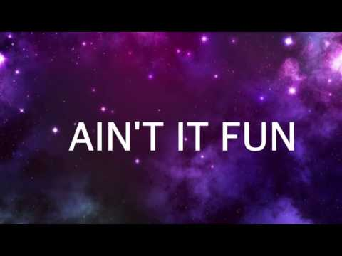 Ain't It Fun // By: Paramore / Lyric Video