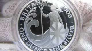 [HD] 2008 Proof Britannia - 1 oz Silver Coin - The Royal Mint
