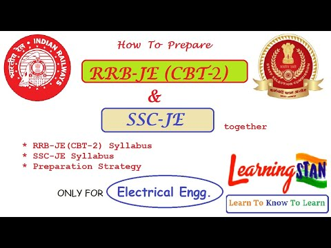 How to prepare RRB-JE (CBT-2) and SSC-JE