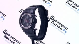 часы casio g shock aw 590 1a aw 590 1aer круговой обзор от presidentwatches ru
