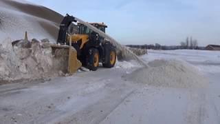JCB Fastrac,soufleur beaulieu dans dépot de neige à montmagny,Qc