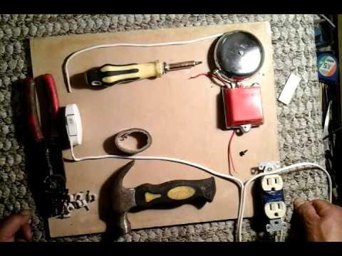 Como conectar un timbre para la casa how to connect a doorbell to the house youtube - Timbre de casa ...