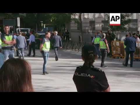Catalan police chief leaves court after questioning