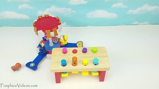 Learn Colors Paw Patrol Mashems Kids Toddler Children Toy Pups In Training Pounding Bench Toys Fun