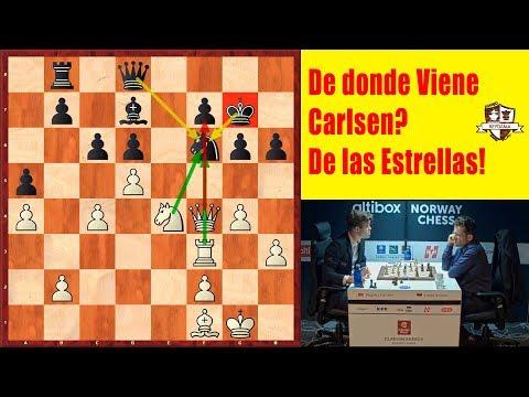 De dónde Viene Carlsen? De las estrellas!  Carlsen VS Aronian Altibox Norway Chess ronda 3