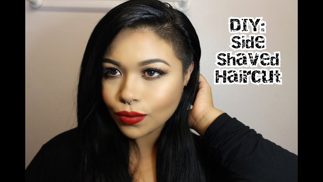 diy: side shaved haircut - easy - youtube