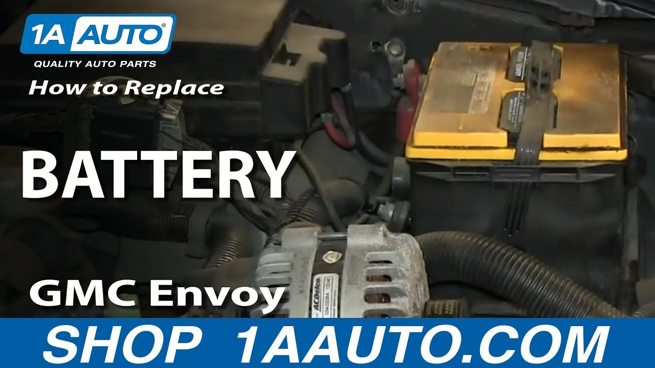 how to install replace dead battery 2002 09 gmc envoy and xl xuv [ 1280 x 720 Pixel ]