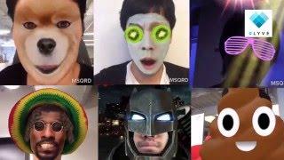 28種類チャレンジ!おもしろ顔認識フィルターアプリ「MSQRD」