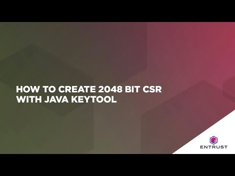 How do I generate a 2048 bit CSR using Java Keytool?