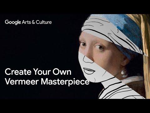#MeetVermeer - Create your own Vermeer masterpiece with The Coloring Book
