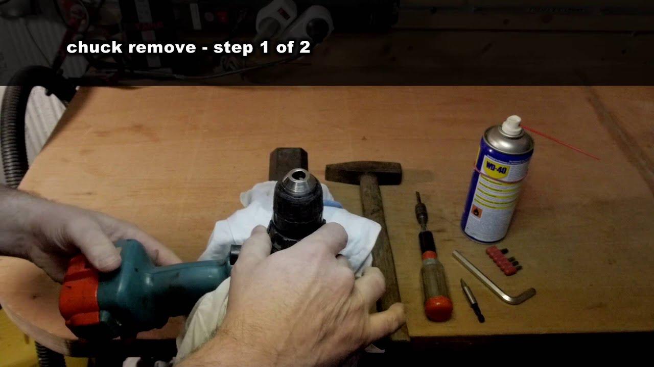 bohrfutter spannfutter entfernen remove drill chuck. Black Bedroom Furniture Sets. Home Design Ideas