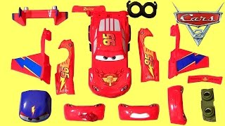 CARS Design & Drive Gear Up Lightning McQueen Hawk Plane Transformer Toys 디즈니카 합체놀이 장난감입니다