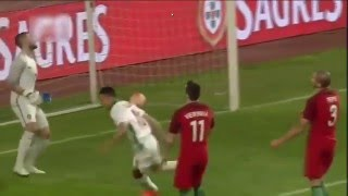 Portugal vs Bulgaria 0-1 Marcelinho GOAL ! Luck or not ?