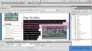Adobe Dreamweaver CS6 Tutotials 13 01