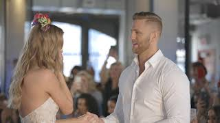Model gets engaged wearing a wedding dress on the runway