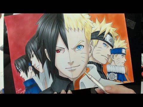 Speed Drawing - Sasuke | Naruto (Naruto)