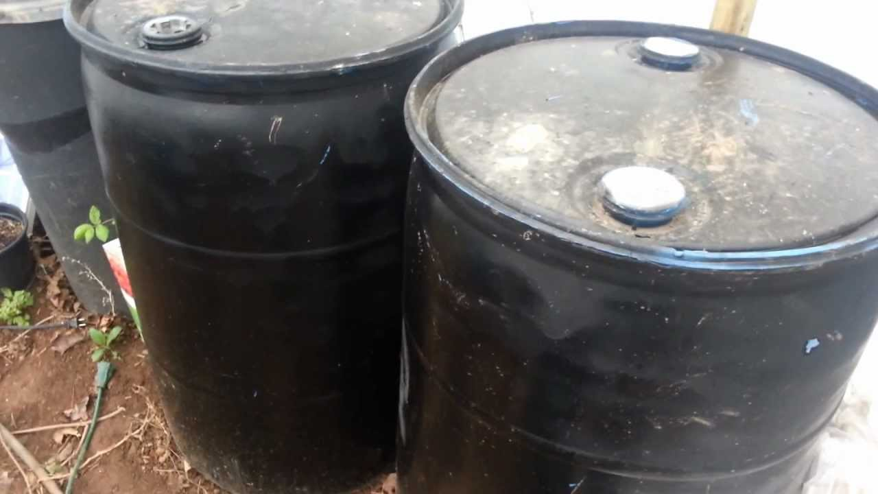 Water Barrel Battery Warmth In The Winter Greenhouse