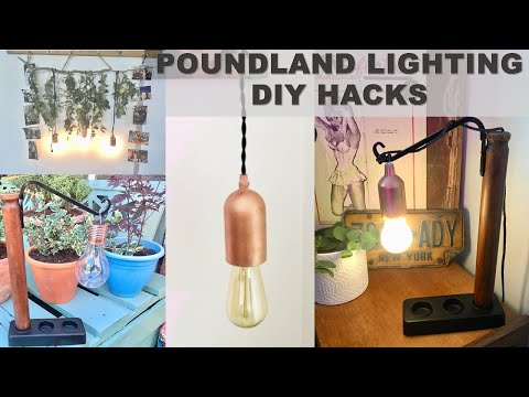 POUNDLAND LIGHTING DIY HACKS | Industrial Lamp DIY | Miss Bird