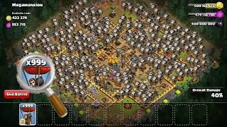 Strongest Army in Clash of Clans [999 TROOPS]