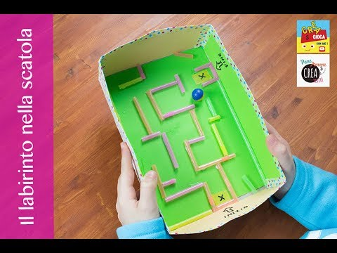 Giochi fai da te il labirinto nella scatola youtube for Cucina giocattolo fai da te