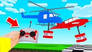 DROP The TNT At The FINISH In A RC HELI To WIN! (Minecraft)