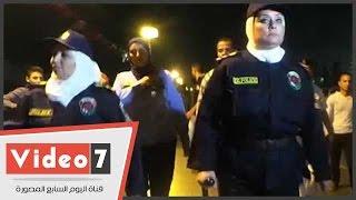 جولة للشرطة النسائية بوسط البلد للحد من ظاهرة التحرش
