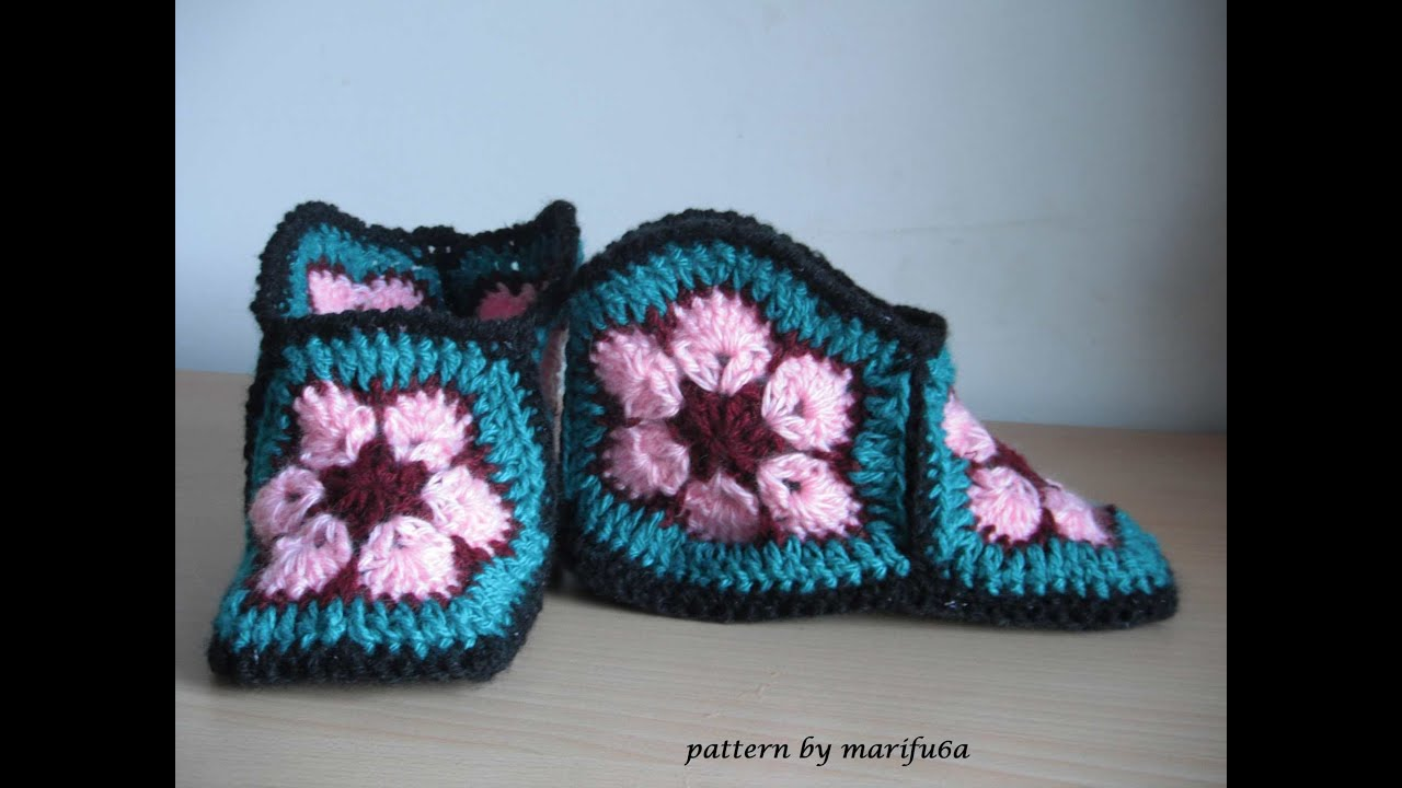 How To Crochet Slippers Free Pattern Tutorial