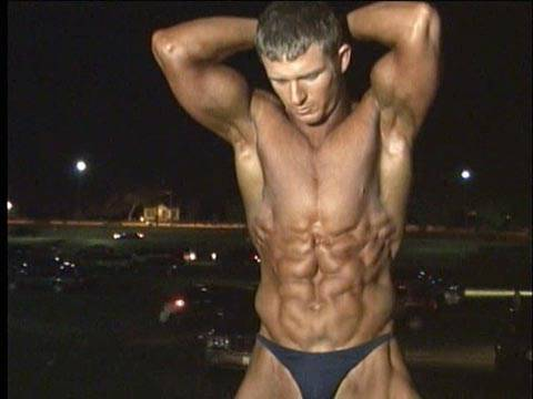 Bodybuilder Ben Roden abs, biceps, back and more
