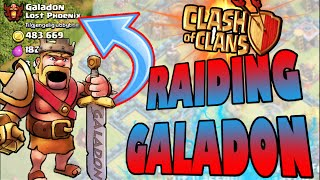 """Clash of Clans - WE FOUND HIM! """"ATTACKING GALADON!"""" Raiding Youtuber Galadon from Lost Phoenix!"""