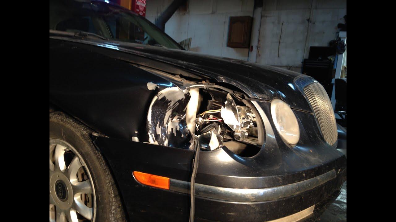 Mike S Garage E16 2004 Kia Amanti Deer Damage Repair