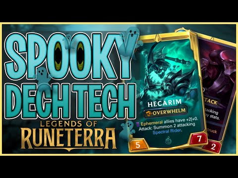 Zed + Hecarim = OP! | 'Spookiness' Deck Tech | AMAZ Legends of Runeterra