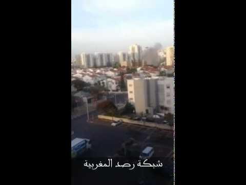 اطلاق صاروخ من غزة ضرب ميناء اشدود بإسرائيل