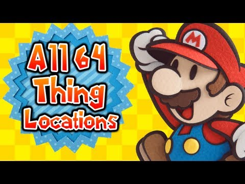 Paper Mario: Sticker Star - All THINGS Locations