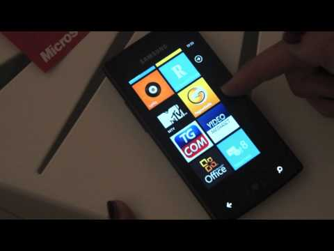 Anteprima Samsung Omnia W con Windows Phone 7 Mango