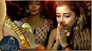 Tina Dutta's Ganpati Aarti and Visarjan | GANESH CHATURTHI 2017