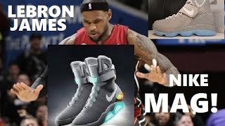 Lebron James Releases Nike MAG inspired Shoes That Glow in Dark