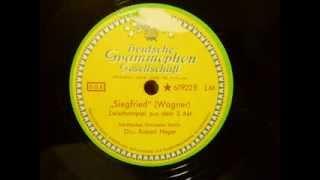 DGG Schellack - Richard Wagner - Siegfried Zwischenspiel 3.Akt