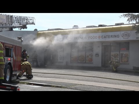Palisades Park Strip Mall Fire Sends Police Officer To Hospital