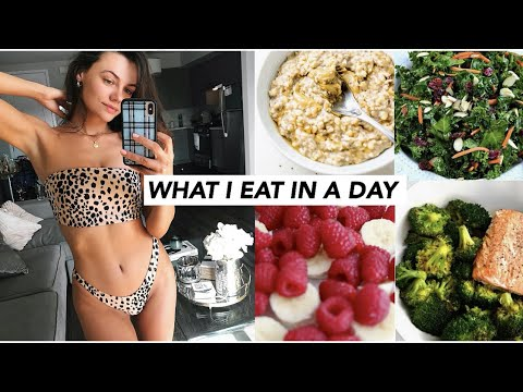 WHAT I EAT IN A DAY + workout clothing haul