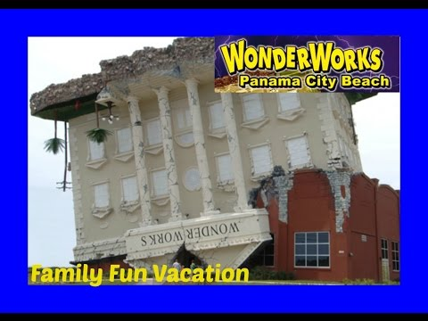 WONDERWORKS  Upside Down Building in Panama City, Florida! Family Fun Vacation
