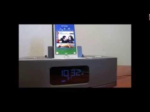 Neon® Apple Certified Dual-Docking Alarm Clock, Speaker