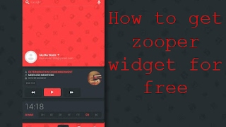 Download lagu How to download ZOOPER widget pro for free