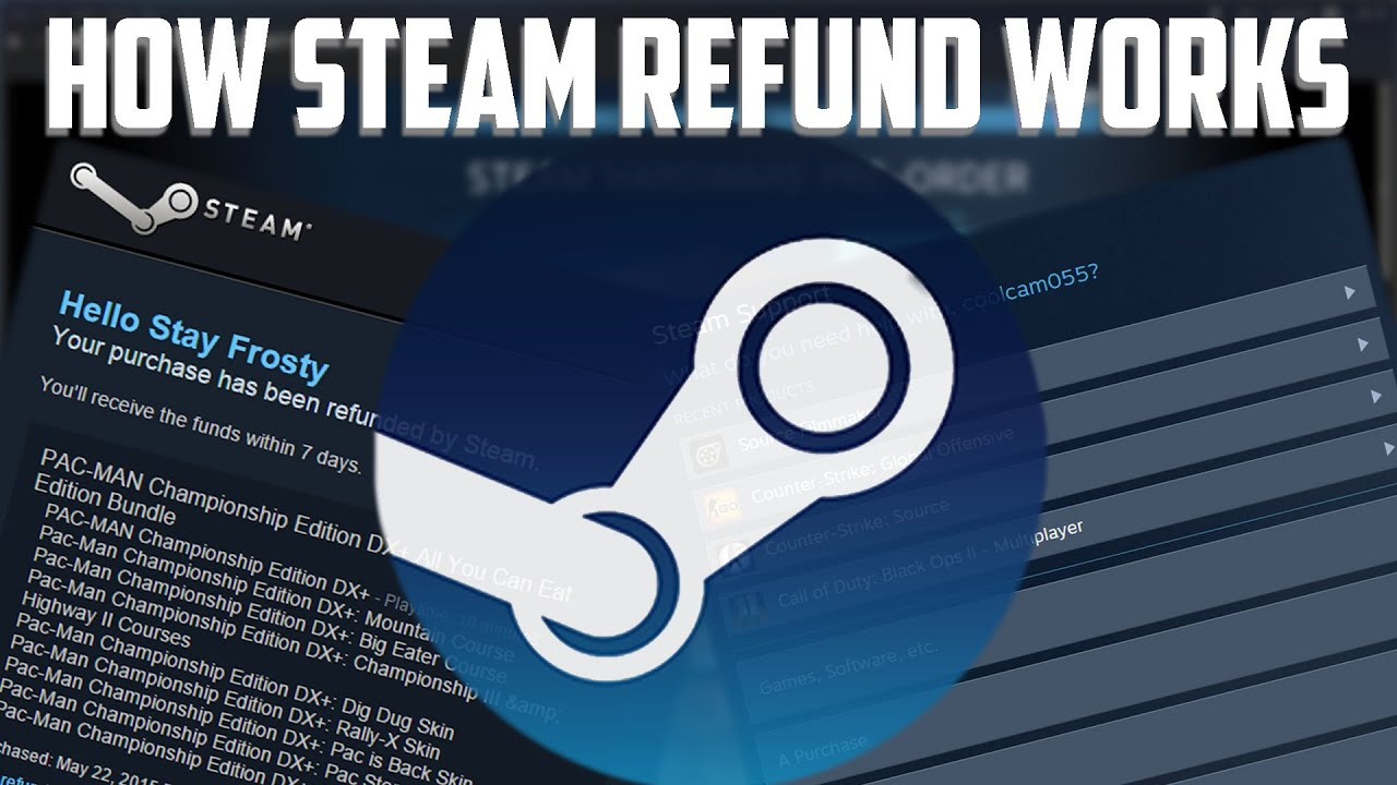 how long does refund take steam
