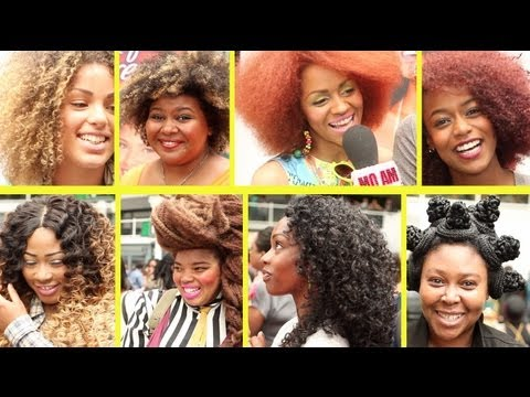 Braided China Bumps, Ombre Dipped Weave, Kinky Curls & More At Afro Hair & Beauty 2013