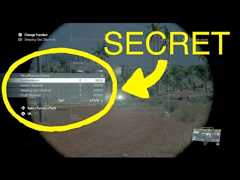 MGSV: Phantom Pain - Secret Feature Button Combos (Metal Gear Solid 5)