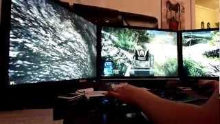 battlefield 3 triple monitor max settings vs no antialiasing fps hd
