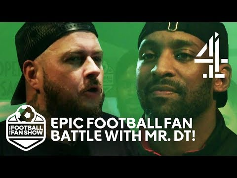Mr. DT & Flex Face Off In Manchester Utd VS Arsenal Fan Battle!   The Real Football Fan Show