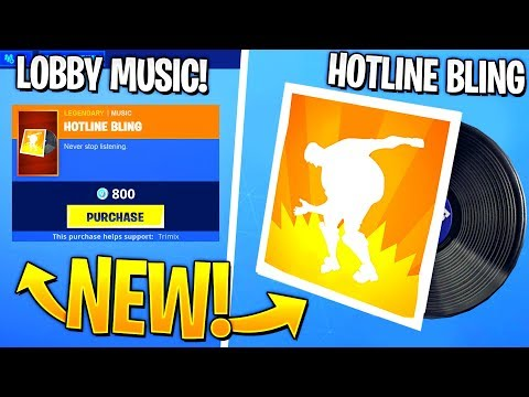 So I Created My Own Fortnite Lobby Music..!! (Hotline Bling, Billy Bounce)