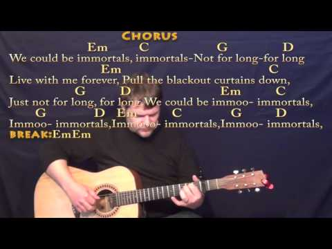 Immortals (Fall Out Boy) Fingerstyle Guitar Cover Lesson with Chords/Lyrics